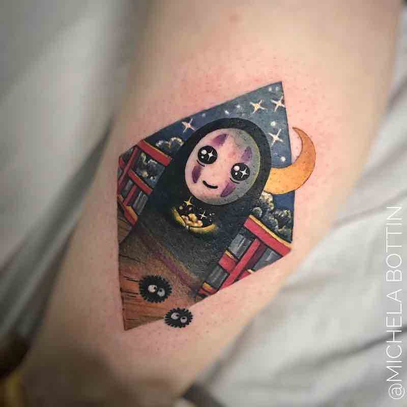 No Face Tattoo by Michela Bottin