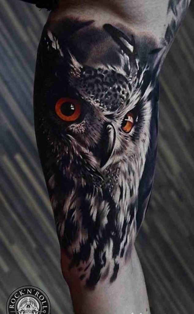 Owl Tattoo by Alex Pancho