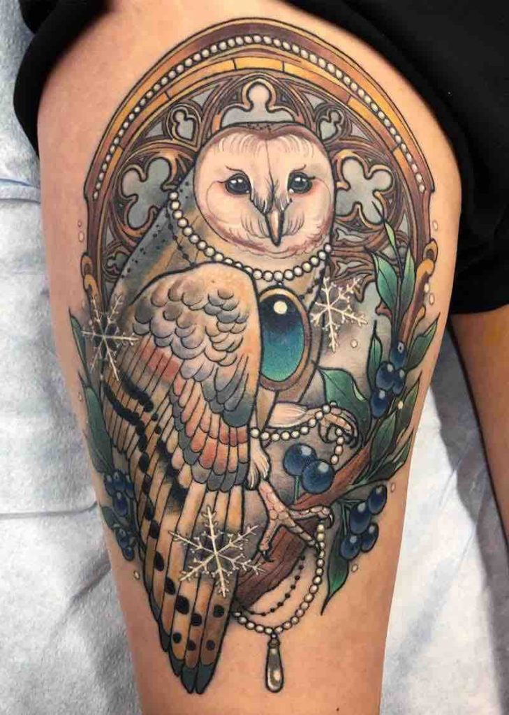 Owl Tattoo by Arielle Gagnon