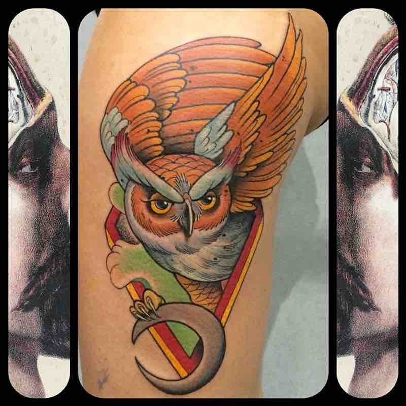 Owl Tattoo by Fulvio Vaccarone
