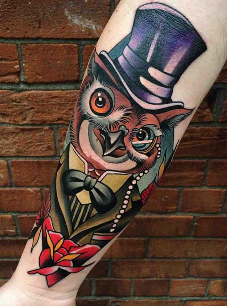 Owl Tattoo by Johnny Domus