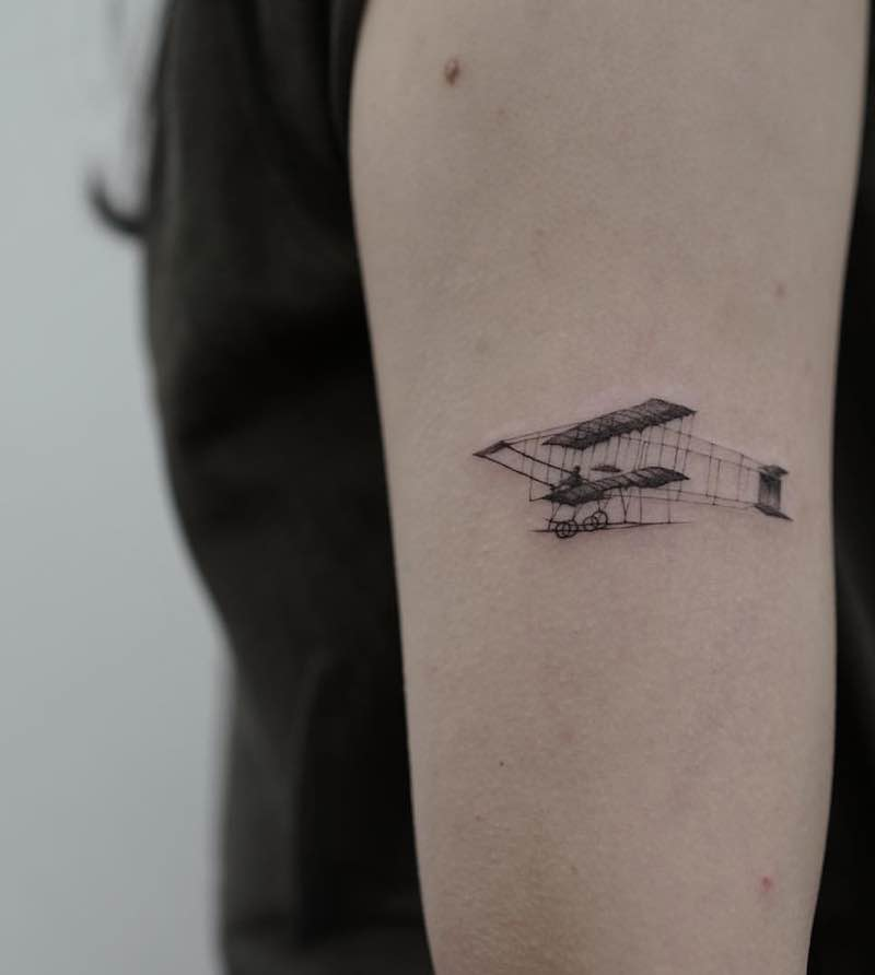 Plane Tattoo by Chiera