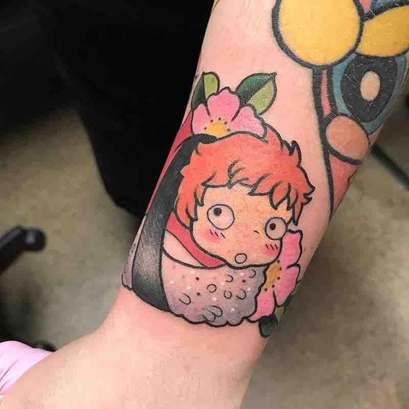 Ponyo Tattoo by Isashah Pereira