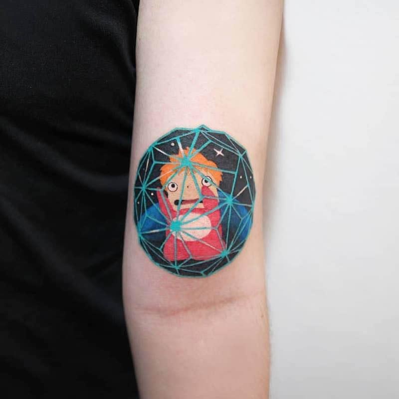 Ponyo Tattoo by Polyc