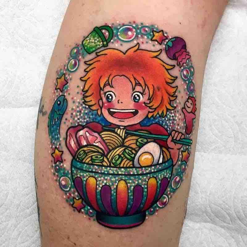 Ponyo Tattoo by Roberto Euan