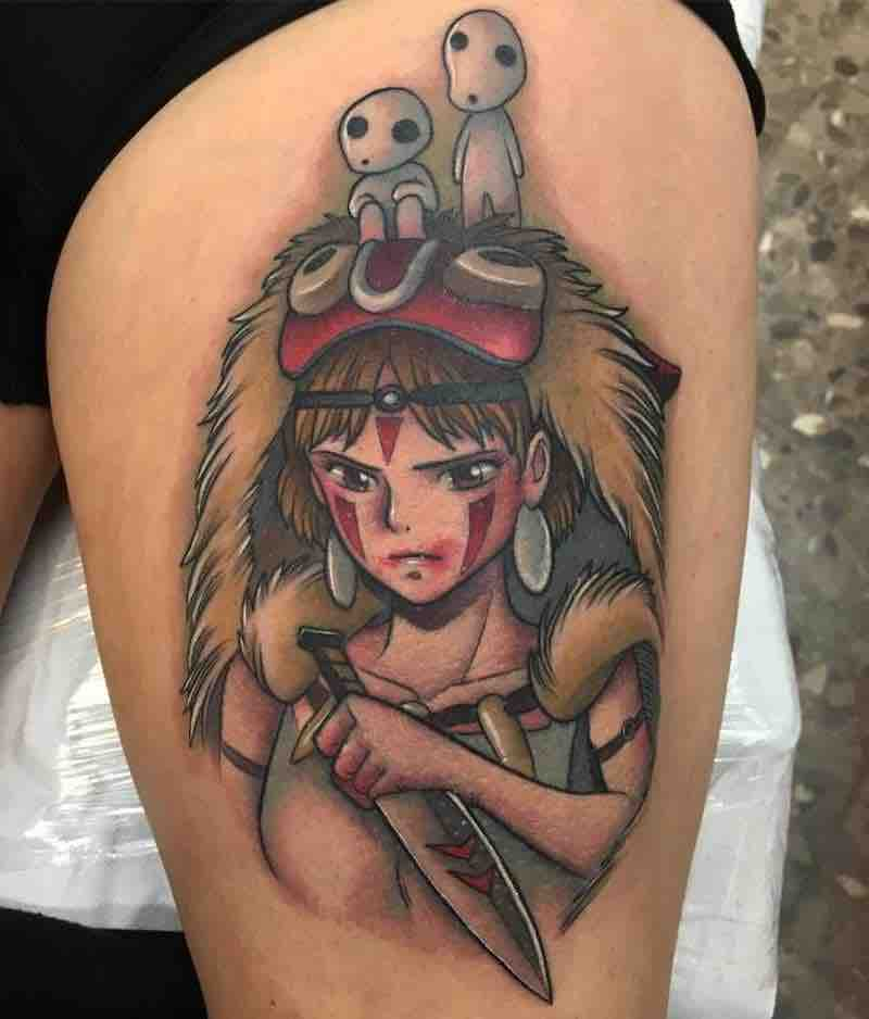 Princess Mononoke Tattoo 3 by Enrik Gispert