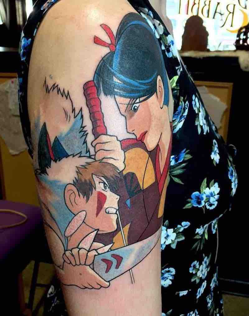 Princess Mononoke Tattoo 6 by Kimberly Wall