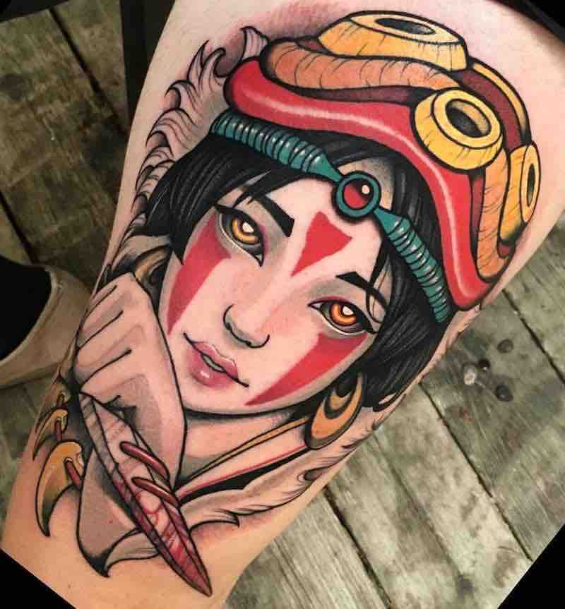 Princess Mononoke Tattoo by Alan Ferioli