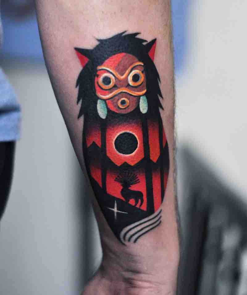 Princess Mononoke Tattoo by David Peyote