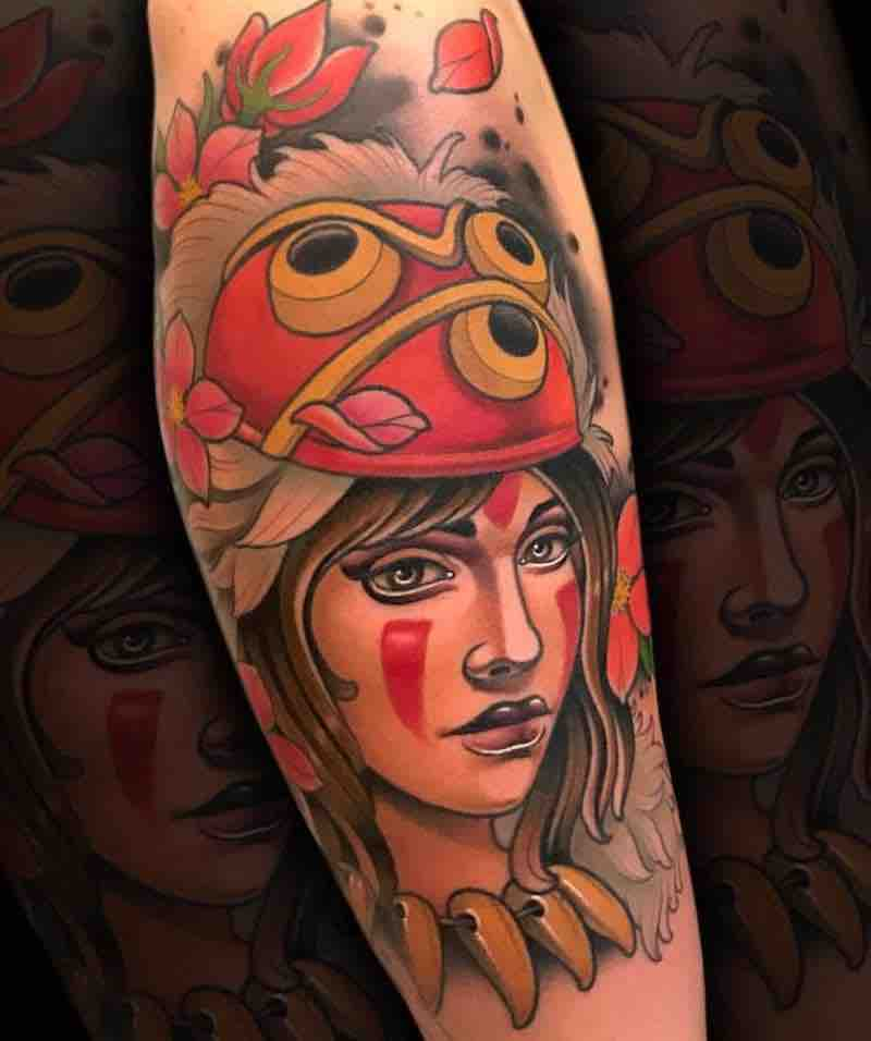 Princess Mononoke Tattoo by Fulvio Vaccarone