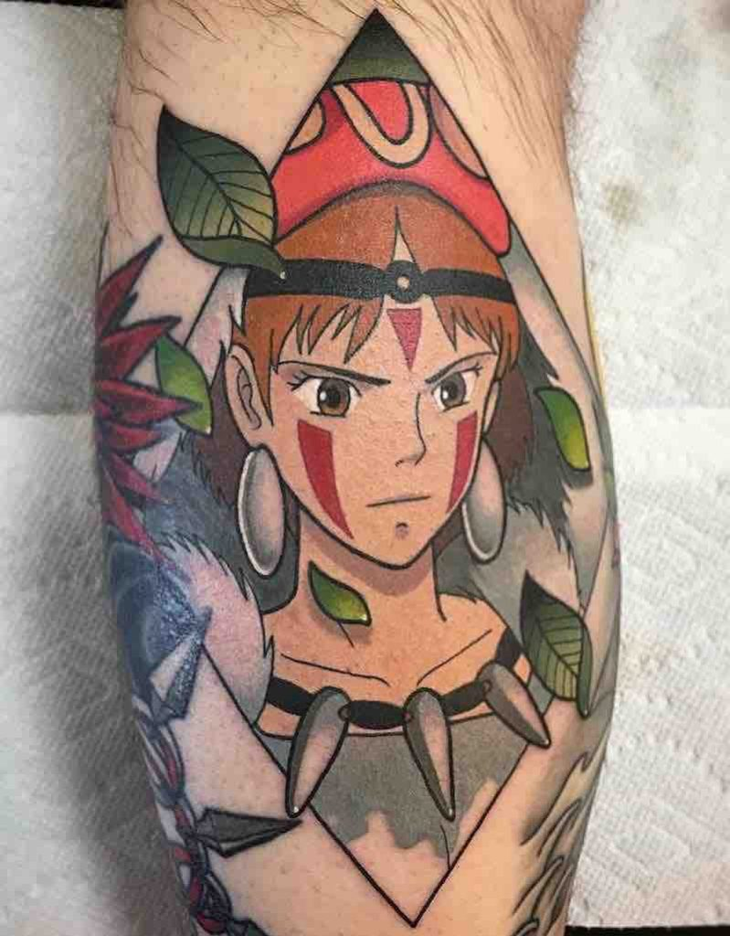 Princess Mononoke Tattoo by Keith Kuzara