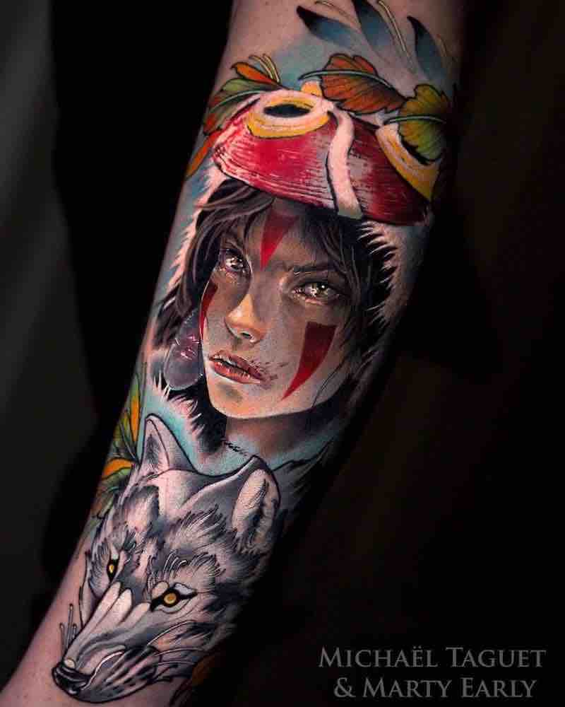 Princess Mononoke Tattoo by Michael Taguet