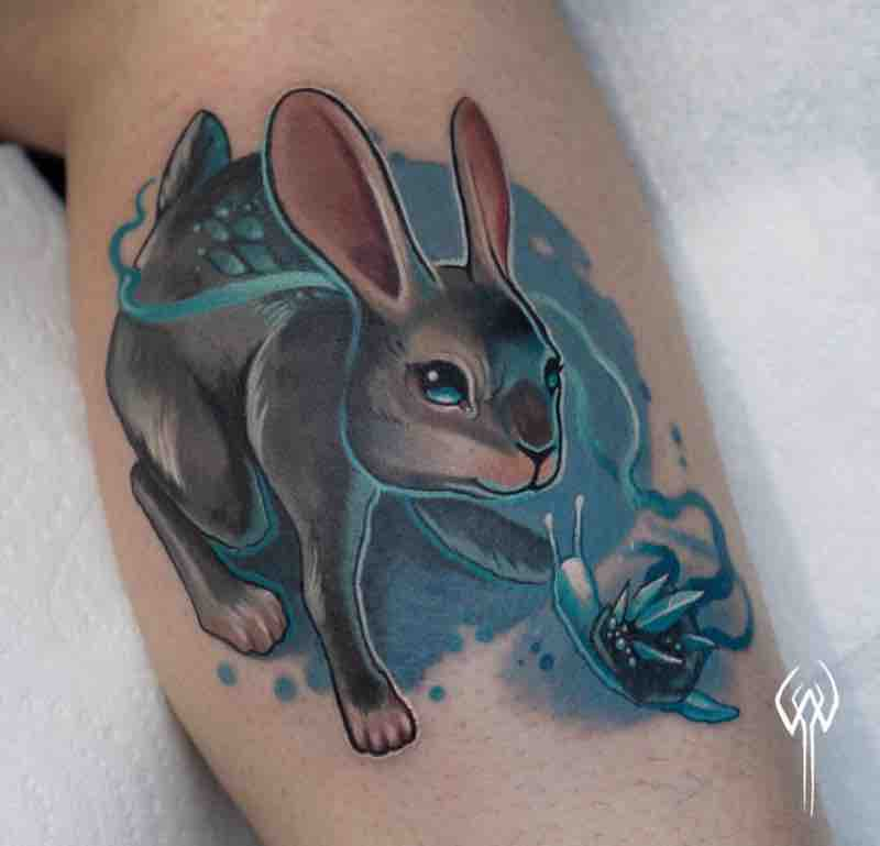 Rabbit Tattoo by Adam White