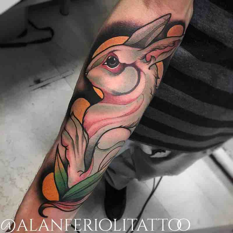 Rabbit Tattoo by Alan Ferioli