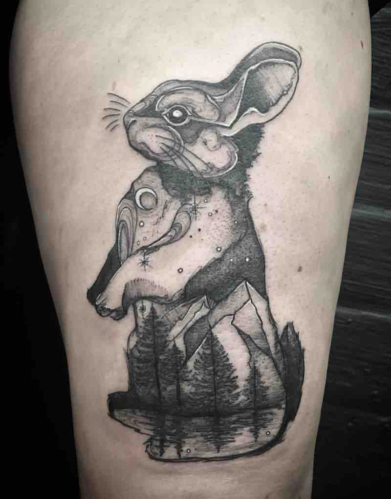 Rabbit Tattoo by Miz Tea
