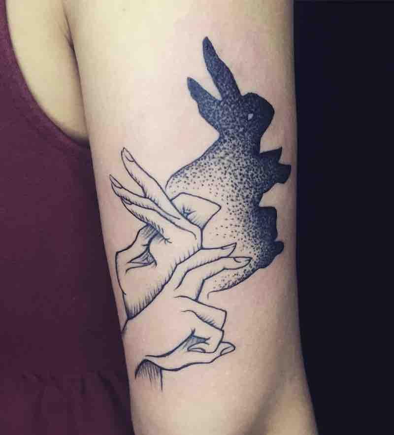 Rabbit Tattoo by Molly Vee