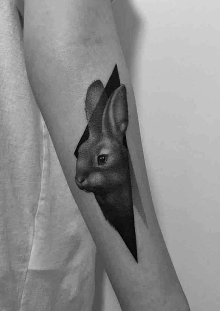 Rabbit Tattoo by Paweł Indulski