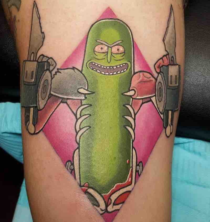 Rick and Morty Pickle Rick Tattoo 2 by Anthony Stokes