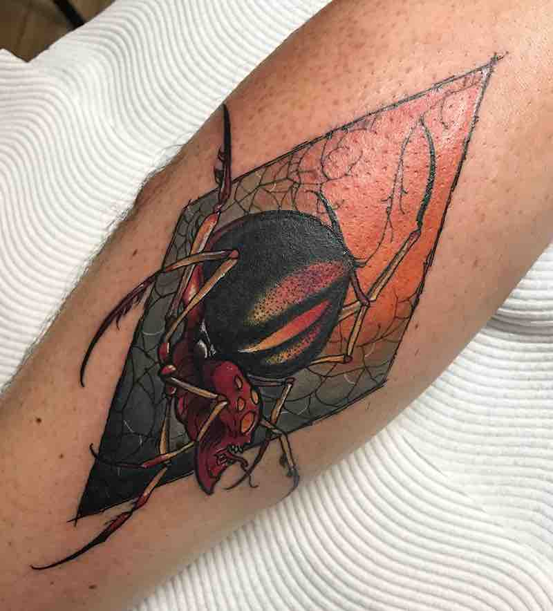 Spider Tattoo 4 by Dean Kalcoff