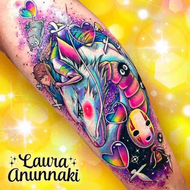 Spirited Away Tattoo by Laura Anunnaki