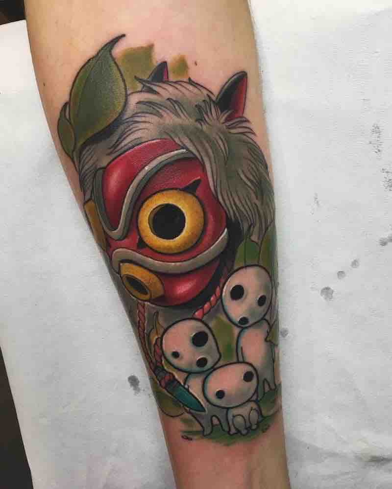 Studio Ghibli Princess Mononoke Tattoo by Krish Trece
