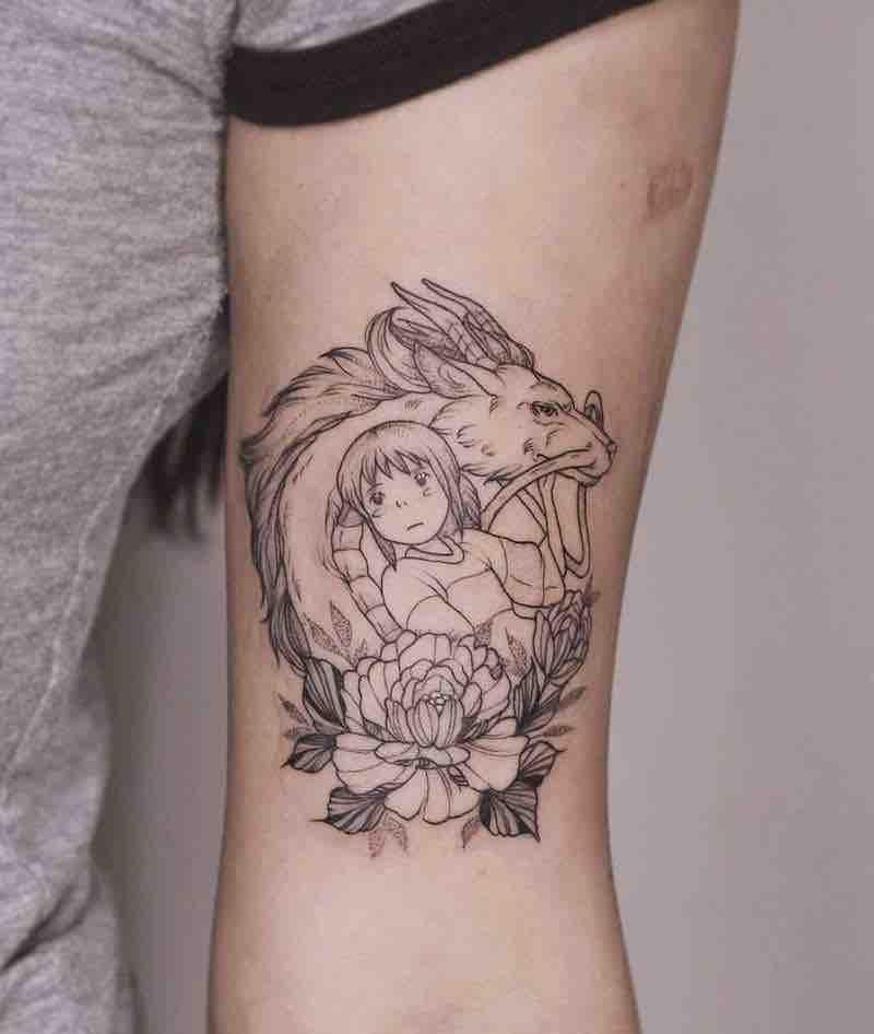 Studio Ghibli Spirited Away Tattoo 4 by Phoebe Hunter