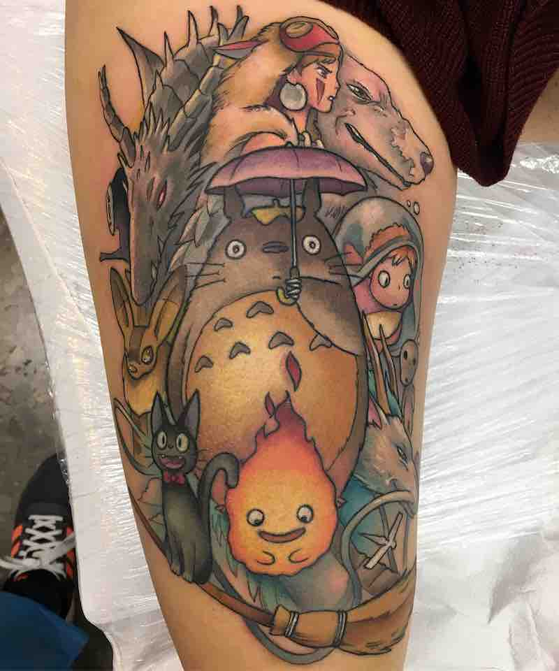 Studio Ghibli Tattoo 4 by Enrik Gispert