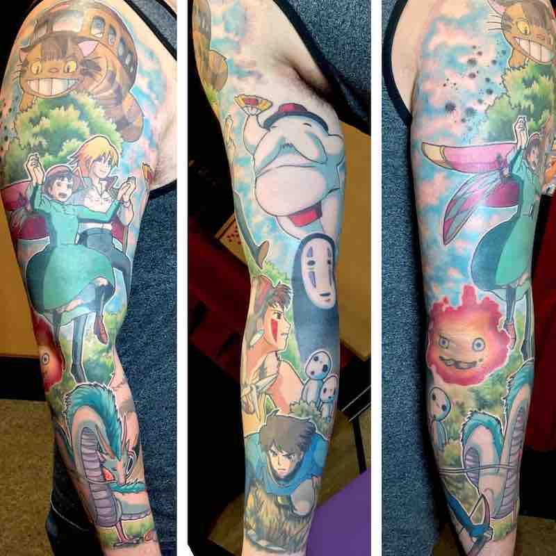 Studio Ghibli Tattoo Sleeve by Kimberly Wall