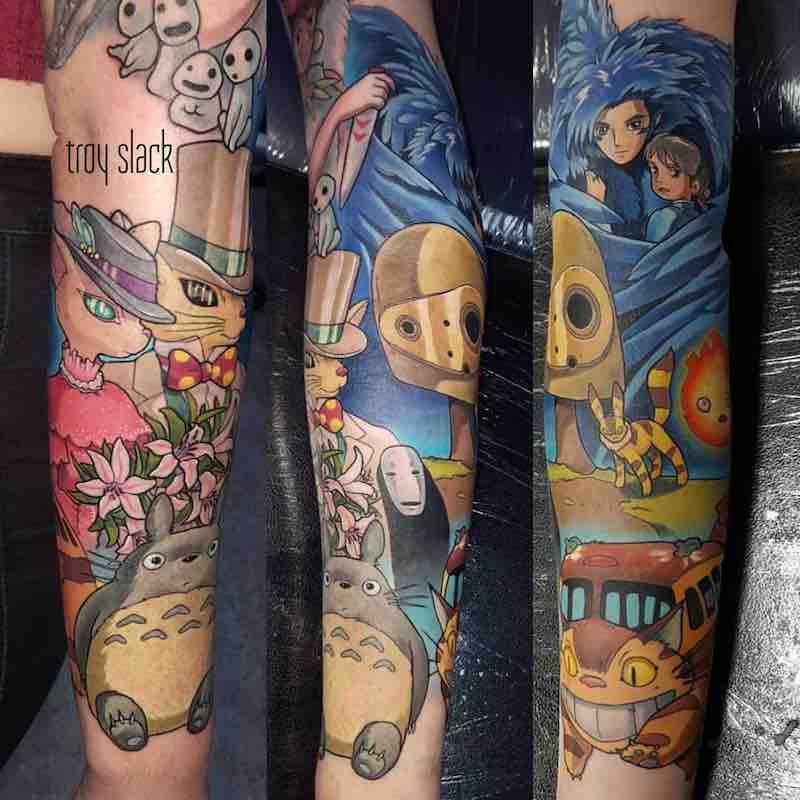 Studio Ghibli Tattoo Sleeve by Troy Slack