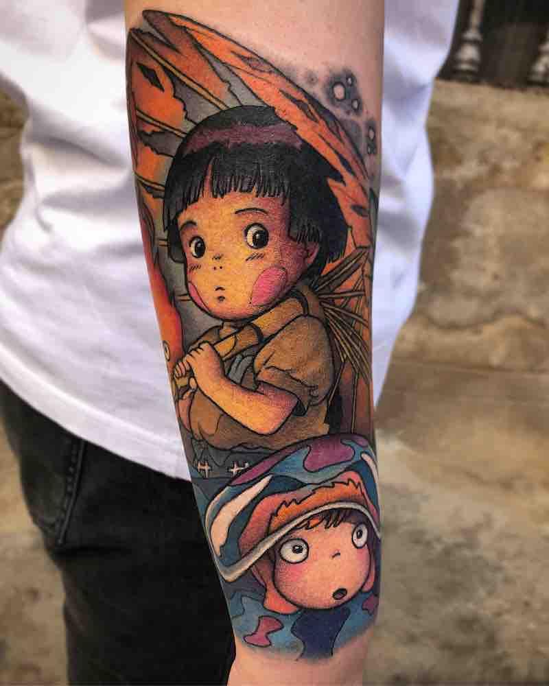 Studio Ghibli Tattoo by Enrik Gispert