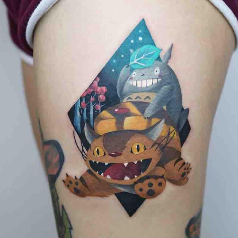 Studio Ghibli Tattoo by Polyc