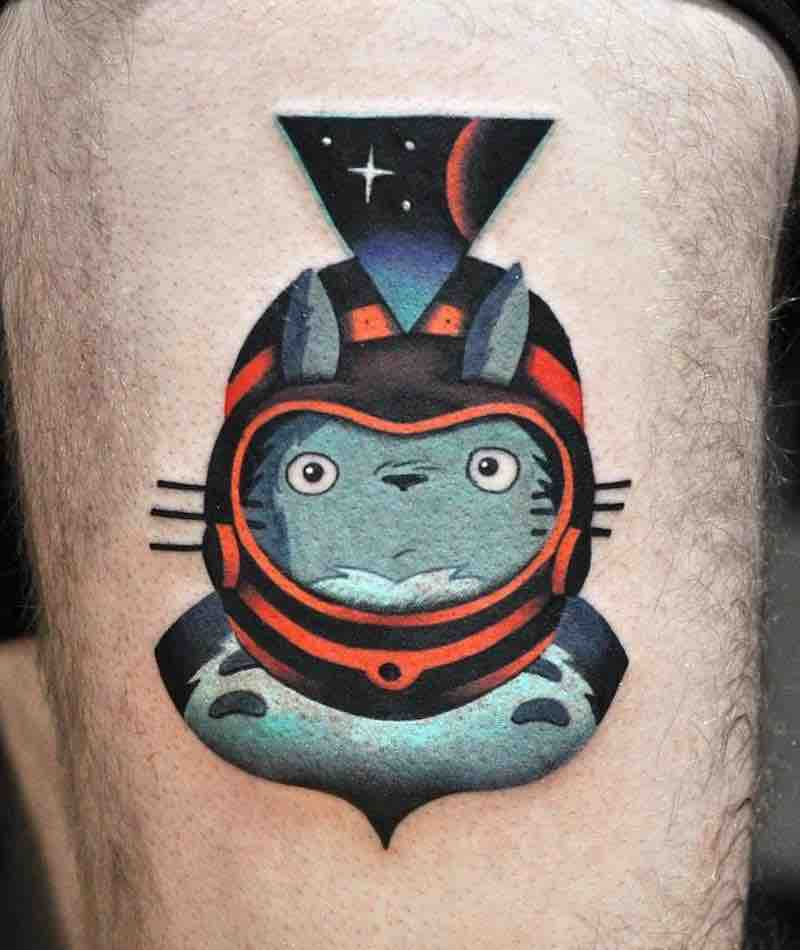 Totoro Tattoo 2 by David Peyote