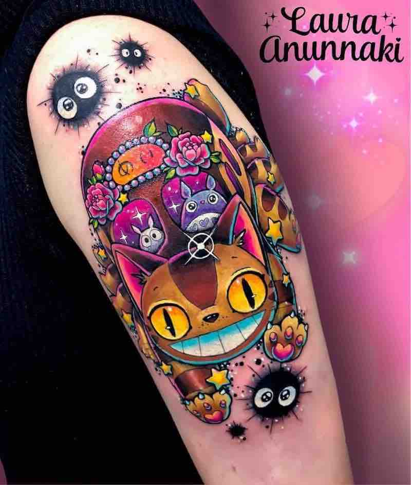 Totoro Tattoo 2 by Laura Anunnaki