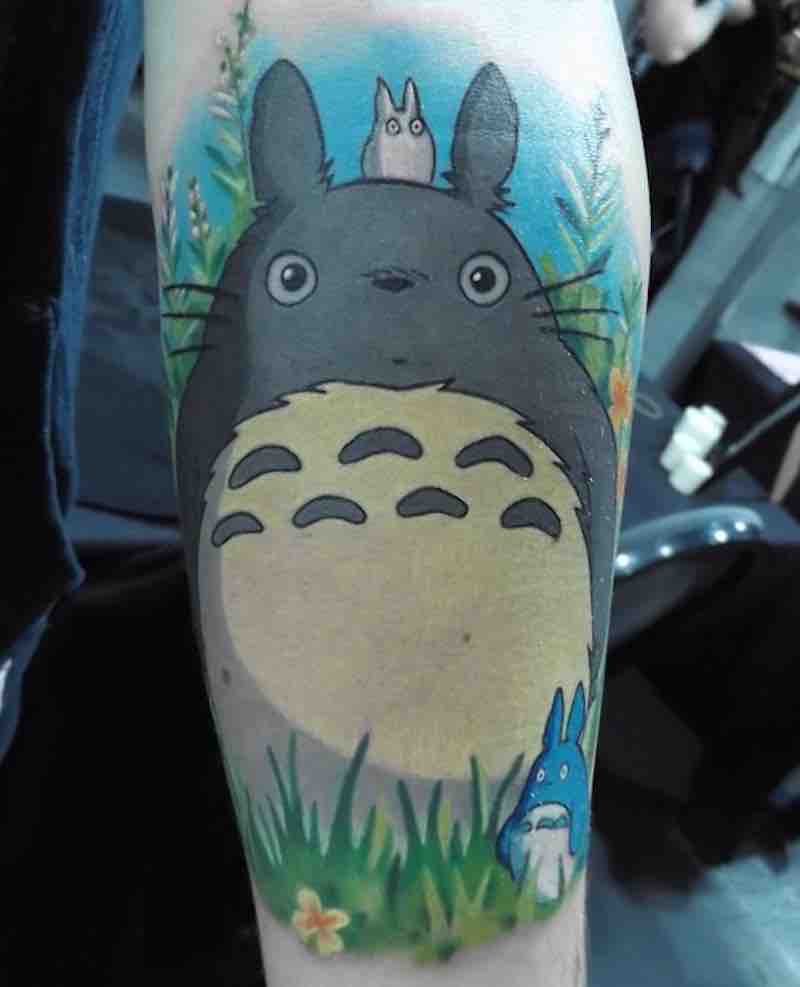 Totoro Tattoo 2 by Michelle Maddison