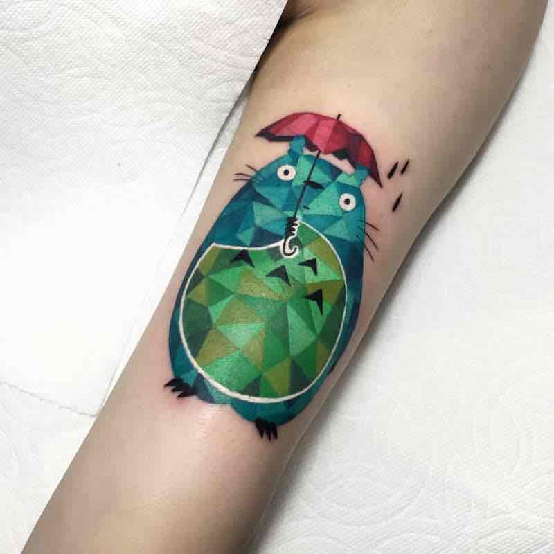 Totoro Tattoo 2 by Polyc