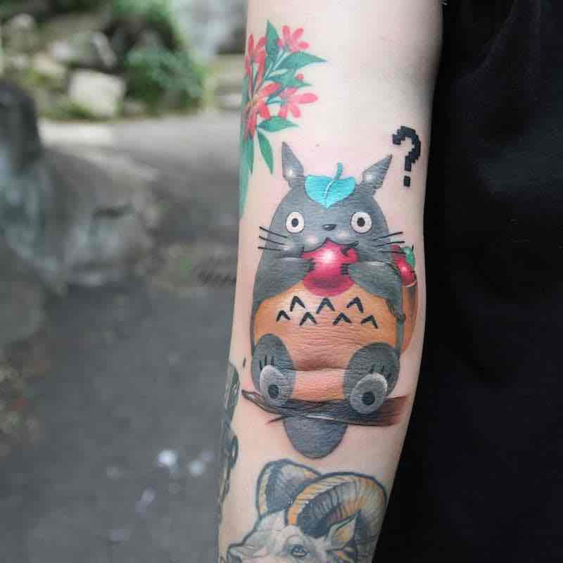 Totoro Tattoo by Polyc