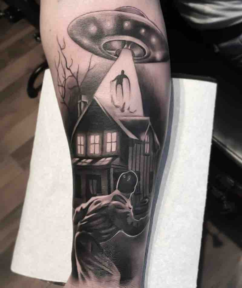 UFO Tattoo by Lee Compton