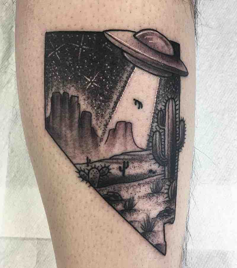 UFO Tattoo by Robbie Pina