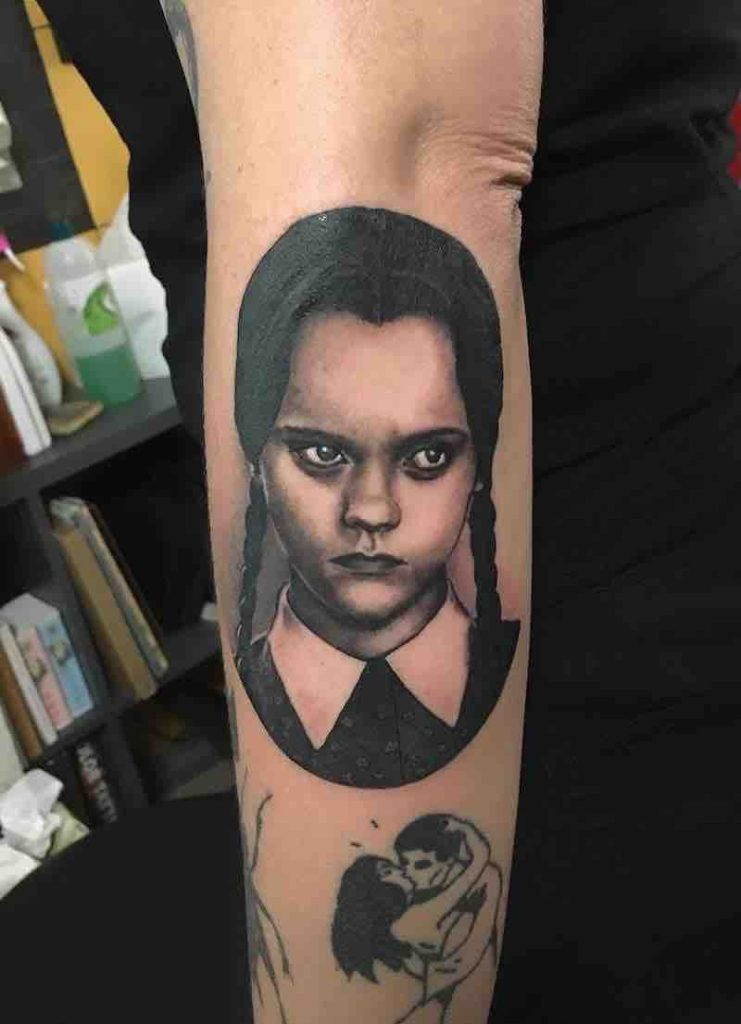 Wednesday Addams Tattoo 2 by Laura Lagarde