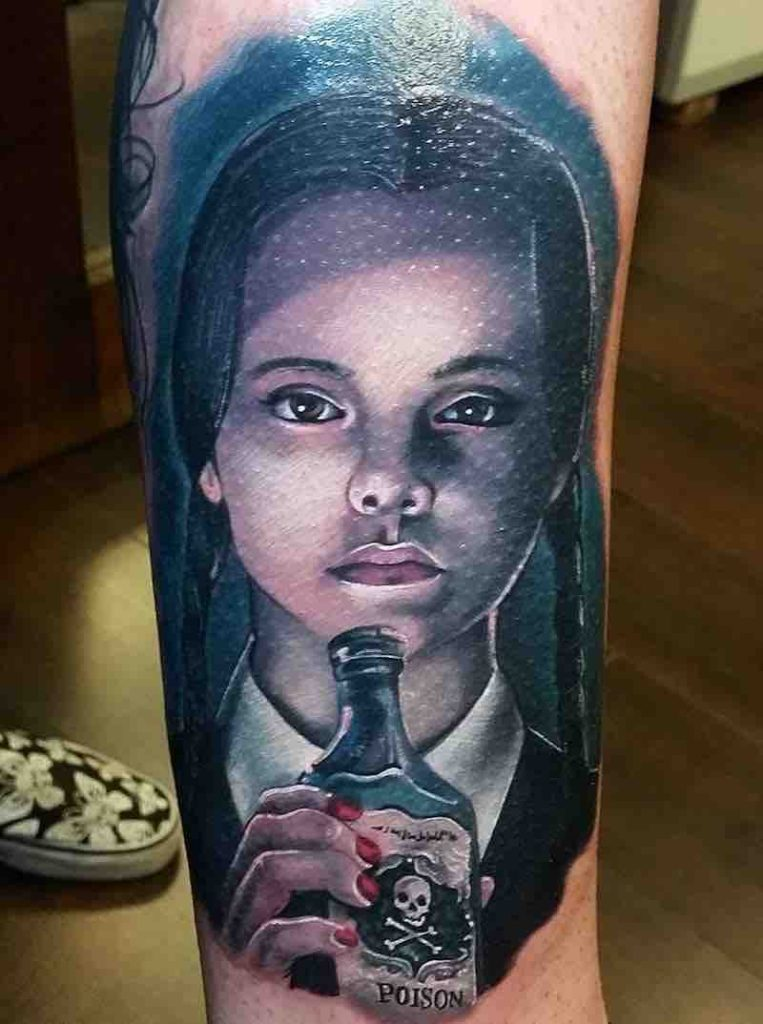 Wednesday Addams Tattoo by Alex Wright