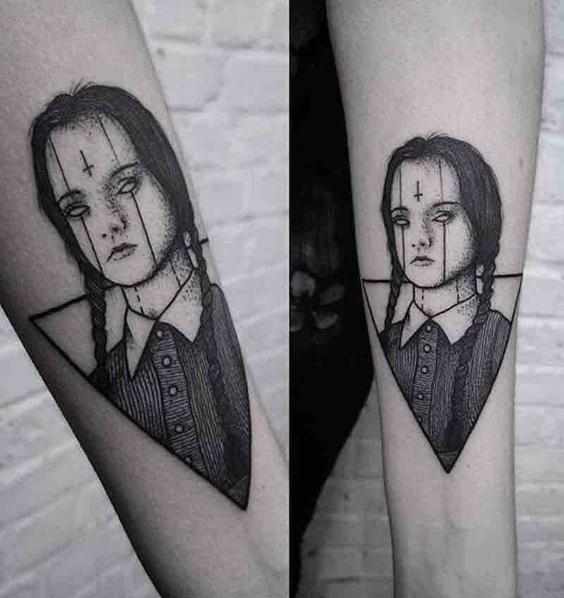 Wednesday Addams Tattoo by Burpi Brebzy