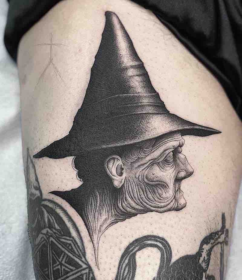 Witch Tattoo by Christopher Jade
