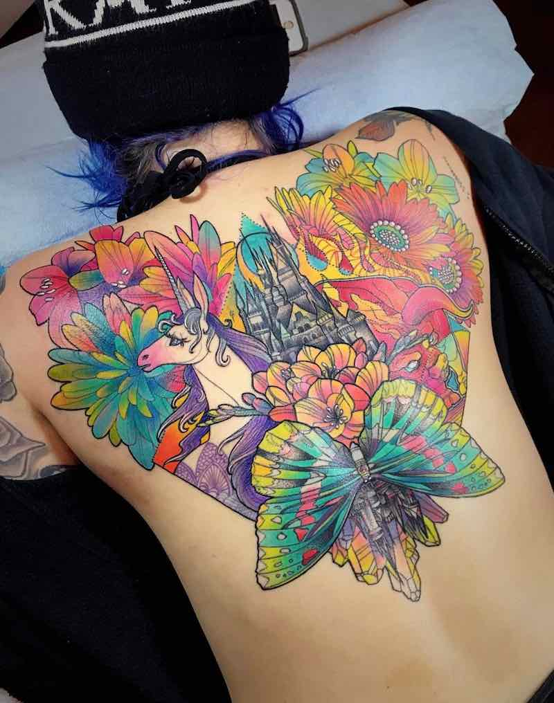 Back Tattoo by Katie Shocrylas