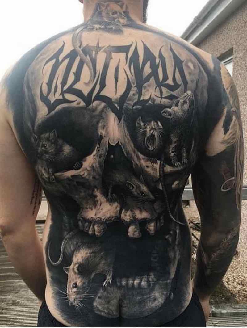 Mens Back Tattoo by Steve Butcher