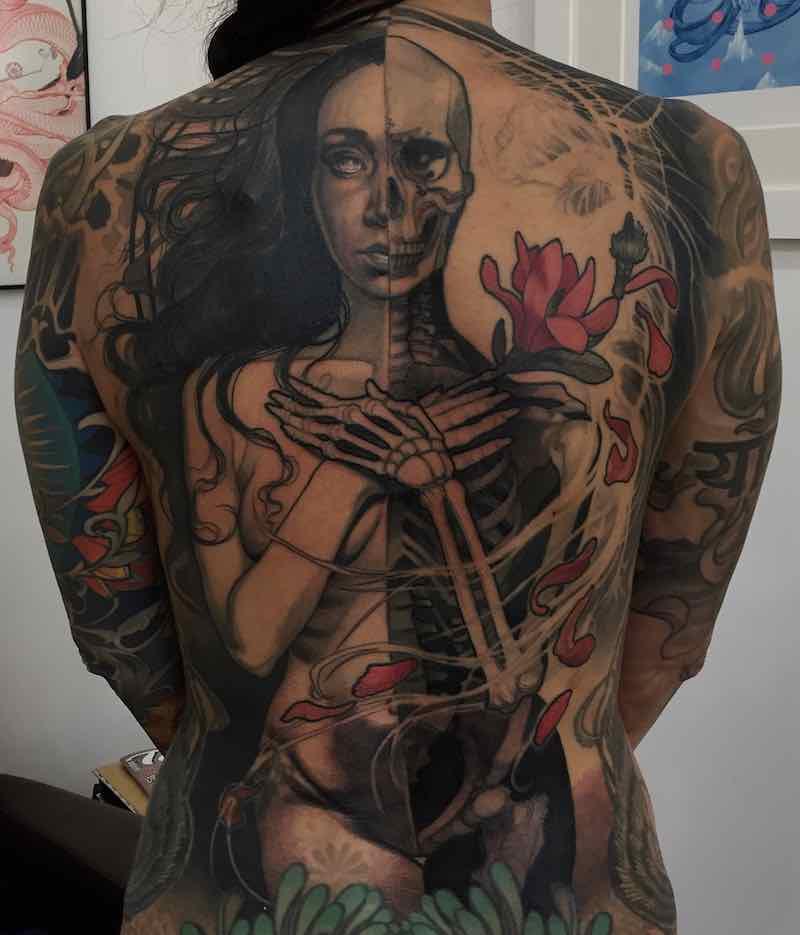 Womens Back Tattoo by Steve Moore