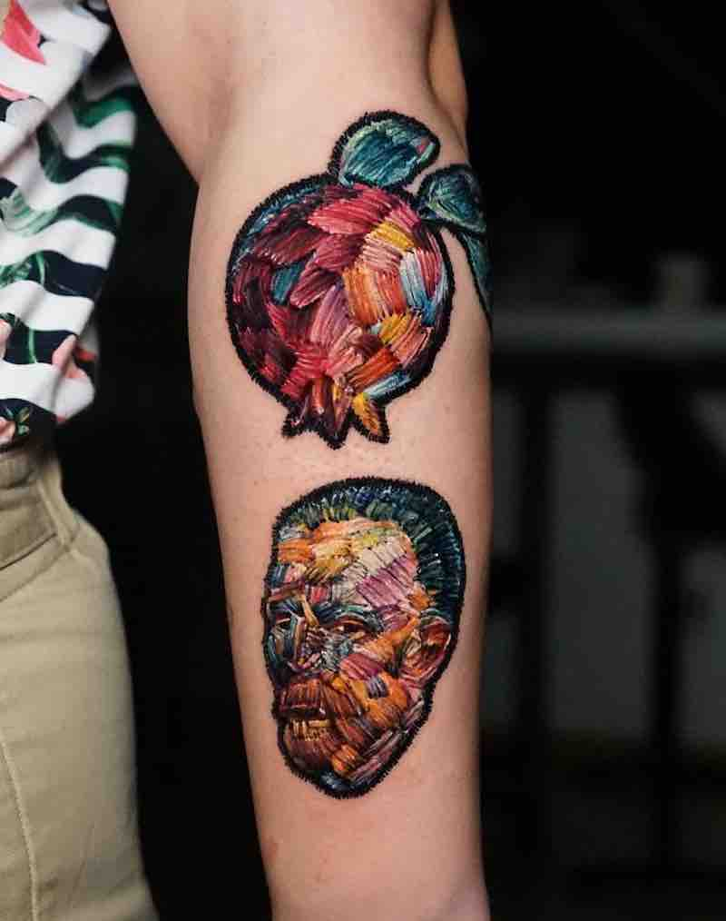 Embroidery Tattoo 2 by Ksu Arrow