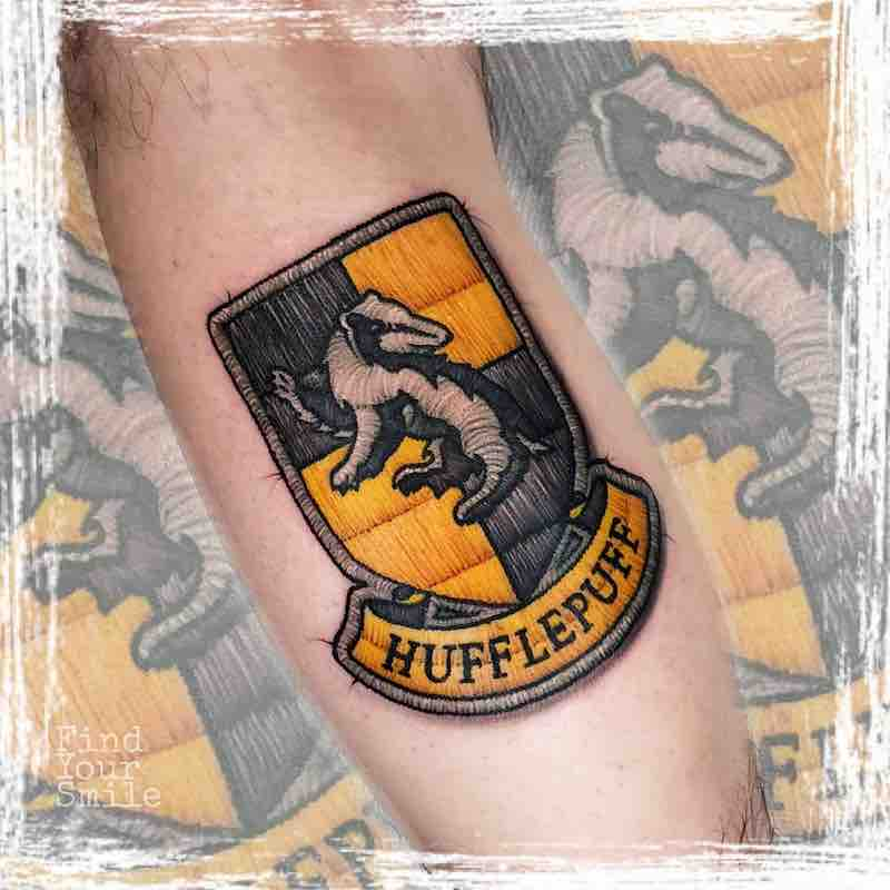 Harry Potter Embroidery Tattoo by Russell Van Schaick